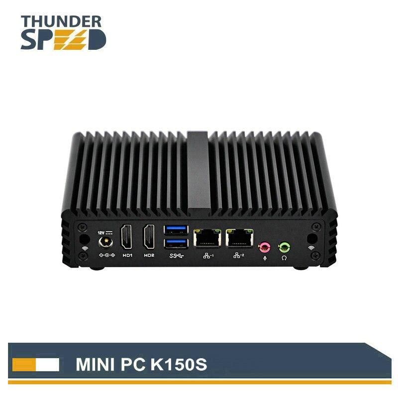 Serveur informatique PC industriel à faible coût Intel CPU N3150 Mini boîtier TV HDMI double routeur VPN LAN Pfsense Linux