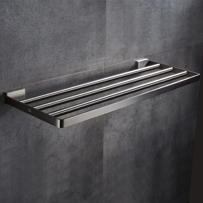 AUSWIND modern 304 stainless steel bathroom towel rack bathroom shelf towel rack wall mount bathroom products 40/50/60cm 304 stainless steel 280 140 500mm bathroom shelf bathroom products bathroom accessories 29016