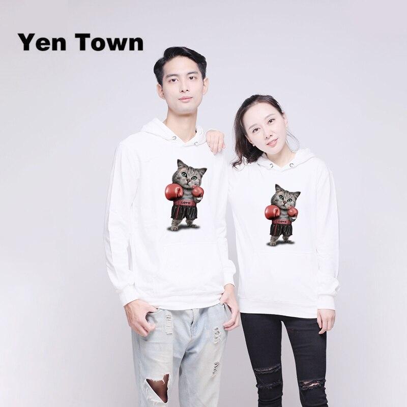 Yen Town Fashion Boxing Printed Hoodies Long Sleeve Unisex Cartoon Pullover Autumn Winter Sweatshirt Kpop S-6XL