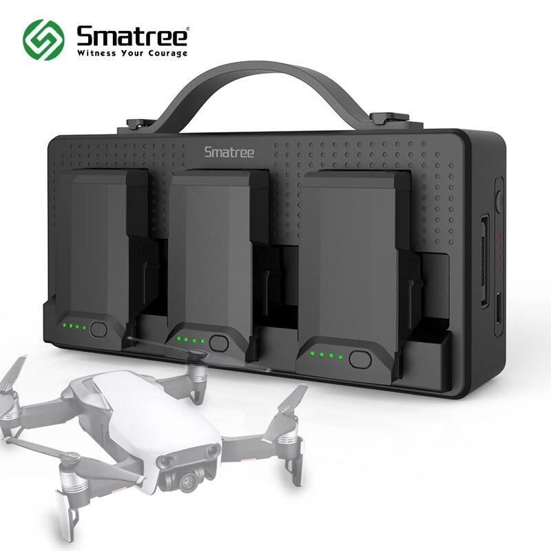 Smatree Батарея Зарядное устройство для DJI Мавик Air, DJI Mavic air Батарея зарядная Hub, заряда 3 батареи одновременно