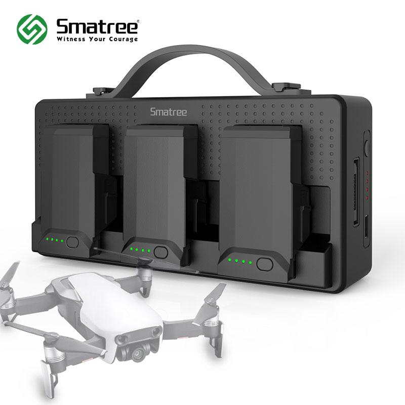 Smatree зарядное устройство для DJI Mavic Air, DJI Mavic air зарядное устройство, зарядка 3 аккумулятора одновременно