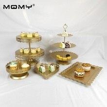 Wholesale New Design 5 pcs Hanging Fancy Fashion Crystal Wedding Cake Stand