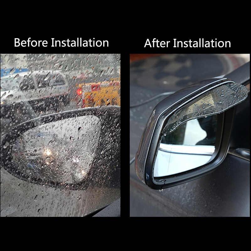 2 pièces voiture rétroviseur sourcil habillage pluie pare-pluie pour Ford Focus 2 3 fiesta mondeo ecosport kuga HYUNDAI ix35 Opel Astra