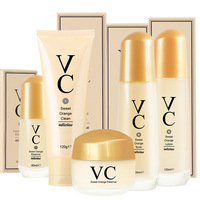 VC Face Skin Care Set Day Cream/ Essence/ Eye Cream/Cleanser Anti Aging Repair Whitening Nursing Facial Set