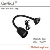 HNTD 3 W 110 V/220 V LED Spotlight Podstawa Magnetyczna Powłoki Z Tworzywa Sztucznego Światła Robocze Frezowania Obrabiarek CNC maszyna Światła Darmowa wysyłka