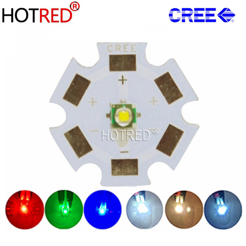 10pcs Cree XPE XP-E R3 3535 SMD 1W 3W LED Emitter Diode Neutral White Cool White Red Green Blue Royal Blue LED With Heatsink