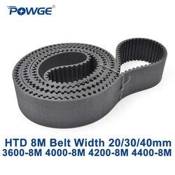 Синхронный ремень синхронизации POWGE HTD 8M C = 3600/4000/4200/4400 ширина 20/30/40 мм зубцы 450 500 525 550 HTD8M 3600-8M 4000-8M 4400-8M