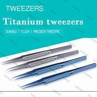 Mobile Phone Repair Tweezers Superhard Titanium Alloy Ultra Sharp 0 15 Mm The Magnetization Special Microscope