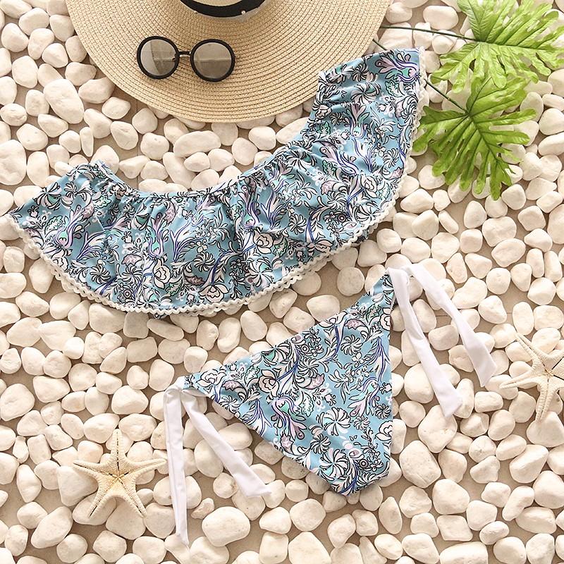 Swimwear Women Swimsuit Push Up Swimwear Female 19 Sexy Bandeau Bikini Ladies Brazilian Beach Bathing Suit bandage Bikini Set 8