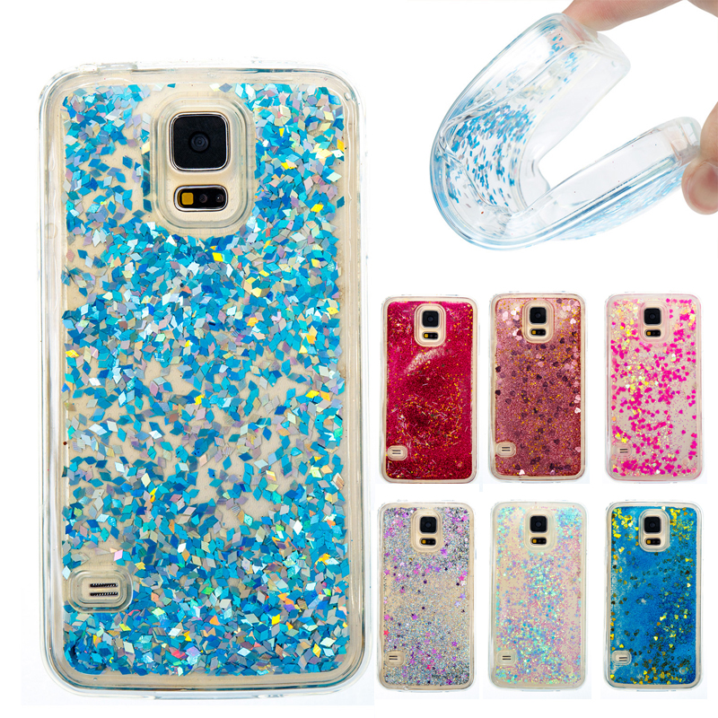 Cute Shine Bling Quicksand Liquid Soft Phone Case Cover For Samsung Galaxy S7 Edge S7 S6 Edge S6 S5 Water Sand Case Coque Fundas Cellphones & Telecommunications Half-wrapped Case
