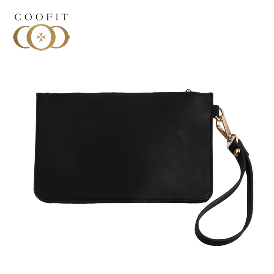 Coofit Retro Women PU Leather Messenger Wristlet Clutch Pouch Bag Purse Zip Wallet Handbag Solid PU Bag Handbag Lady Coin Purse