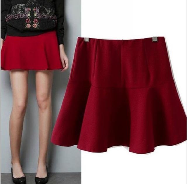 Cl1003 estilo europeu famosa marca moda Slim cintura saias com babados inverno primavera mulheres Lady grátis frete