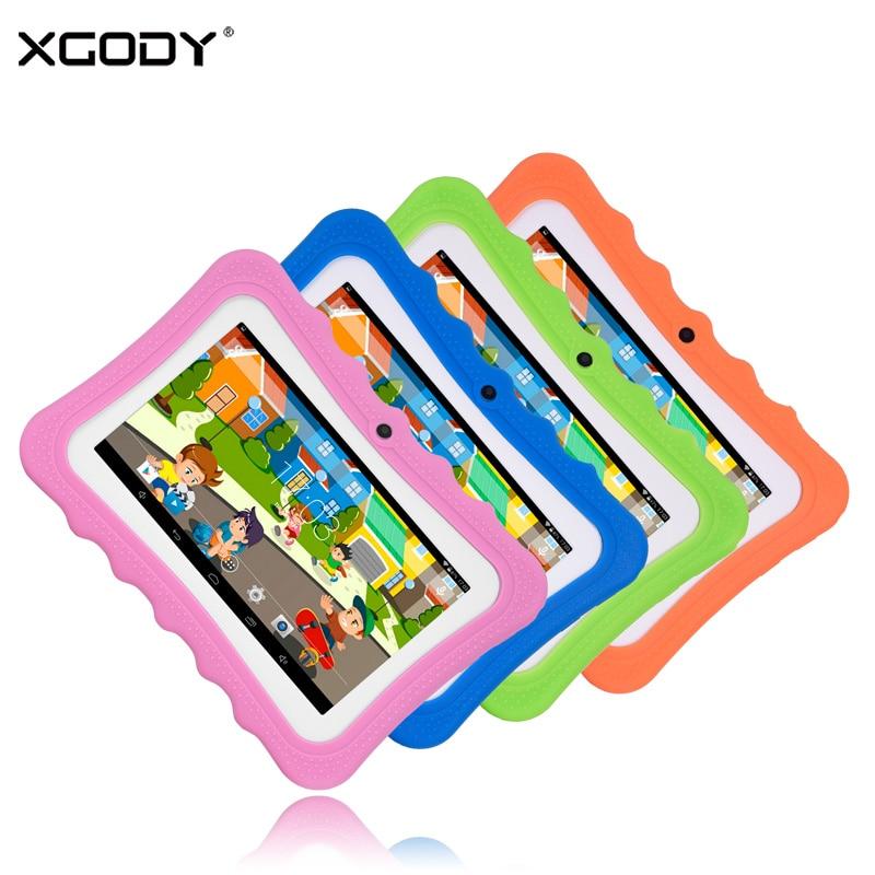 XGODY I711 7 Inch Children Tablet Android 4.4 AllWinner A33 Quad Core 512MB RAM 8GB ROM 0.3MP Dual Cameras OTG Tablet PC Babypad видеорегистратор artway av 711 av 711