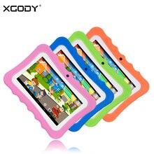 XGODY I711 Niños Tableta de 7 Pulgadas Android 4.4 de AllWinner A33 Quad Core 512 MB RAM 8 GB ROM 0.3MP Cámaras Duales OTG Tablet PC Babypad