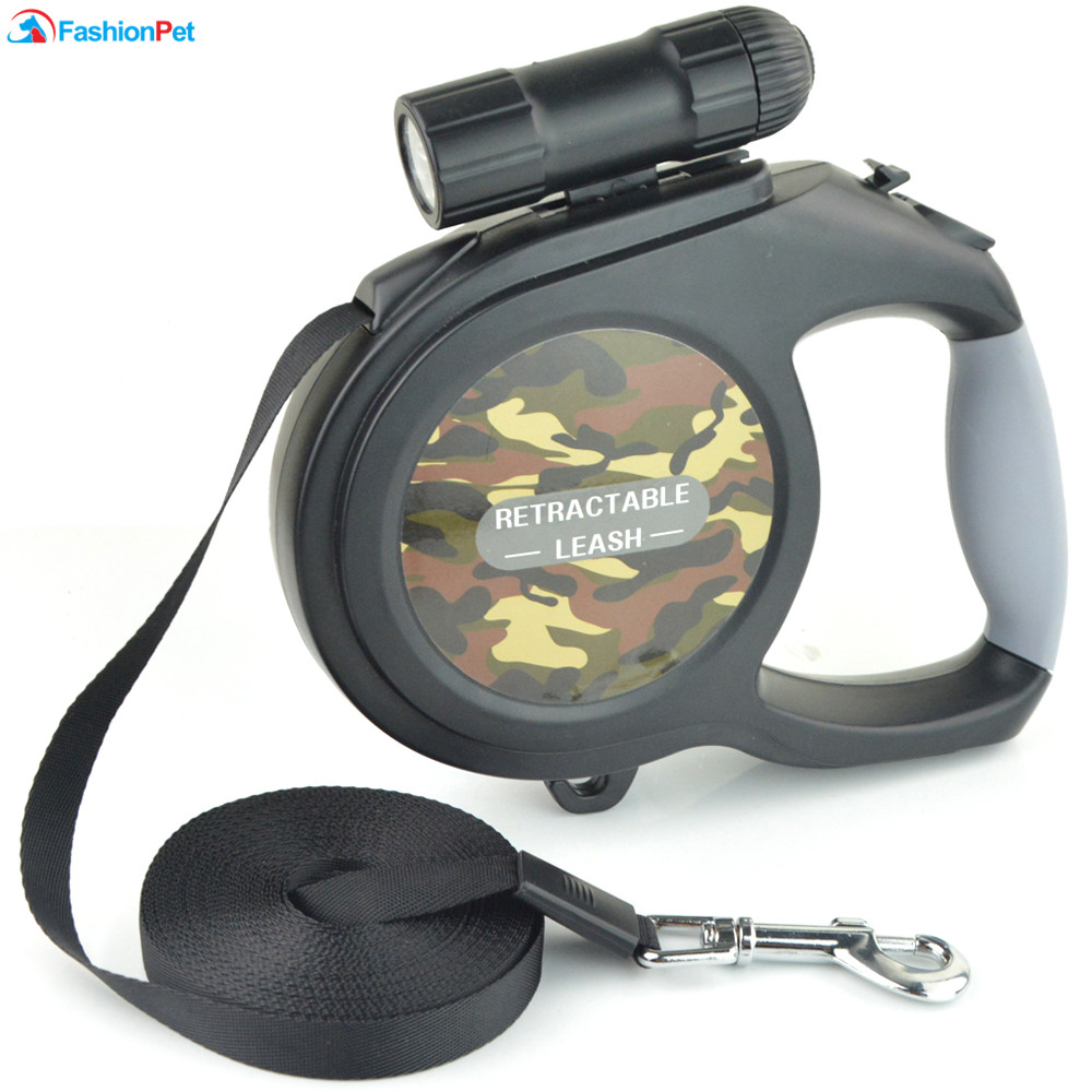 New Arrival 8M 50kg Large Dog Leash Retractable Extending Pet Leash Lead for Big and Medium Dog with LED 3