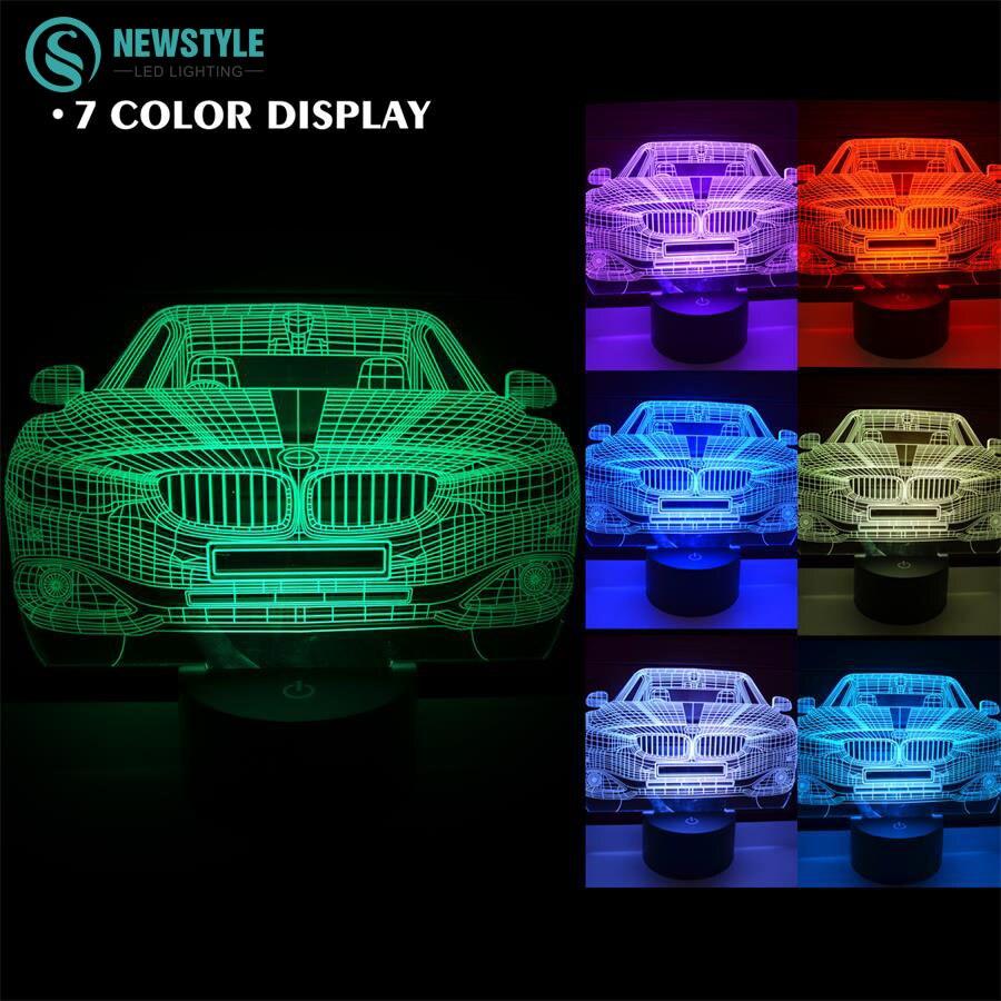 3D BMW Car Night light lamp DC5V Rechargeable led light ...