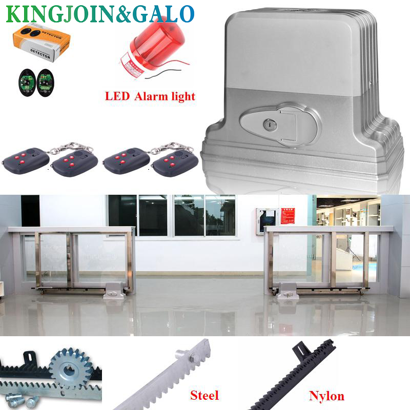 Automatic Sliding Electric Gate Opener 1800KG Automatic Motor Remote Kit Heavy Duty 6M TRACK infrared photocell alarm lamp heavy duty 1800kg automatic sliding gate motor for gate drive with infrared sensor alarm lamp and loop detector
