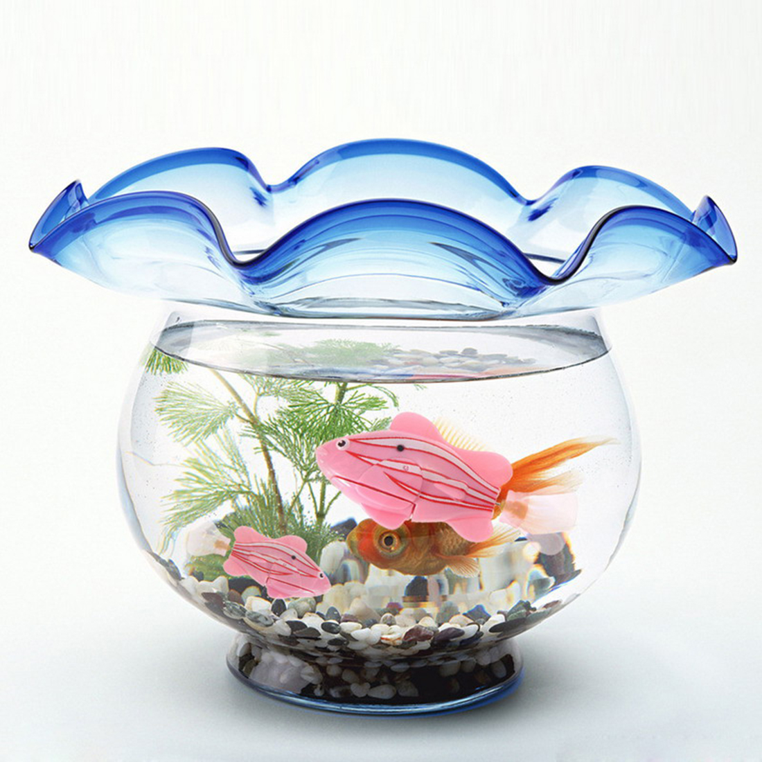 Fish tank toys - New Robofish Activated Battery Powered Robo Fish Toy Fish Robotic Fish Tank Aquarium Ornaments Decorations