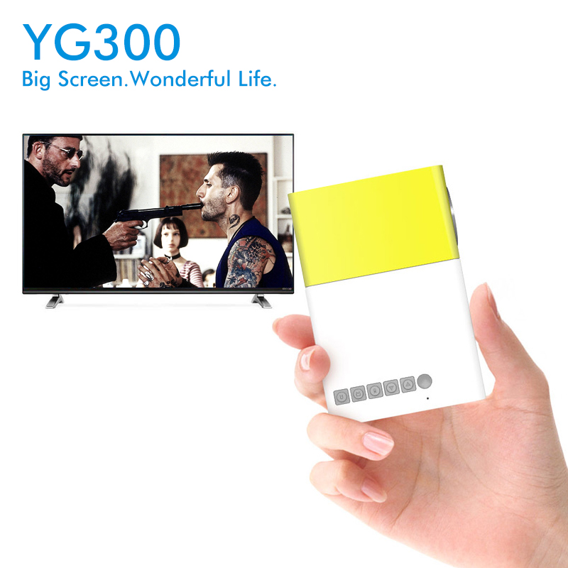 все цены на  YG-300 YG300 YG310 LED Portable Projector 400-600LM 3.5mm Audio 320 x 240 Pixels HDMI USB Mini Projector Home Media Player  онлайн