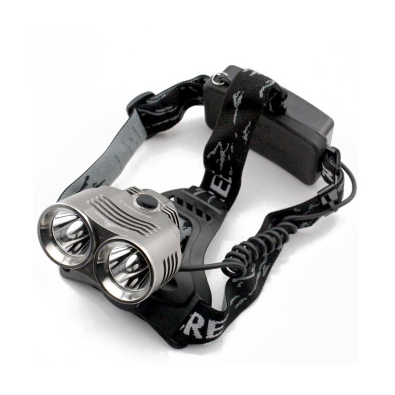 2400lm T6 Lumière Projecteur Extérieur 2t6 Perle Led 3 Mode Phare lampe de Poche Tête Camping Pêche Lumière Pour 18650 Batterie