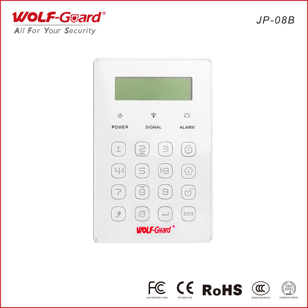 Wolf-Guard Wireless Keyboard Sensor for Home GSM Alarm Security System 433MHZ new wolf guard yl 007m2bx mobile call gsm auto dial alarm system for home security safety