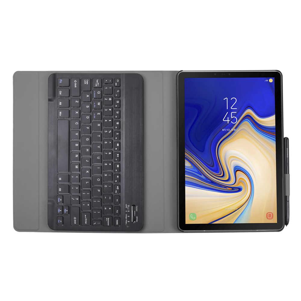 Trường hợp Đối Với Samsung Galaxy Tab MỘT A2 10.5 '2018 SM T590 T595 T597 Có Thể Tháo Rời WiFi Bluetooth Da Bàn Phím Bìa funda + Pen Chủ