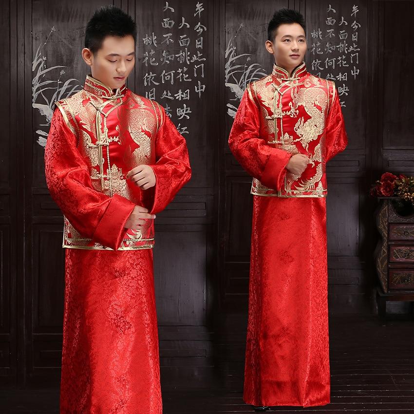 Chinese Traditional Bridegroom Wedding Dress Vintage Men