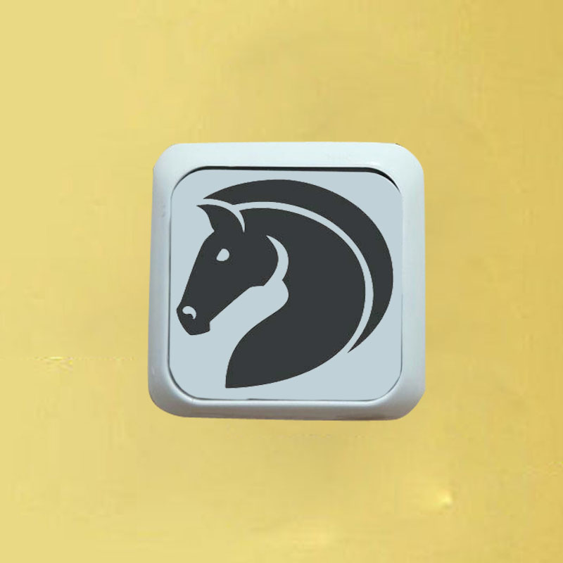 WANGZHIMING  Silent Horse Vinyl Switch Sticker Cartoon Decal Decor Applied Wall Animal 8SS-0533