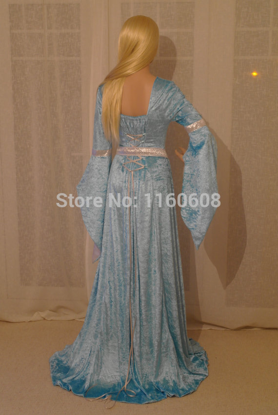 8e3ab569c1 US $169.1 5% OFF Fabulous Elven Style Gown ELVEN DRESS Medieval Renaissance  Fairy Satin Dress Custom Made All Size-in Dresses from Women's Clothing on  ...