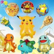 5 Pc/lot Free Shipping 45cm 18inch Pokemon Go Series Picachu Aluminum Film Balloon Cartoon Party Deco Supply Birthday Wedding