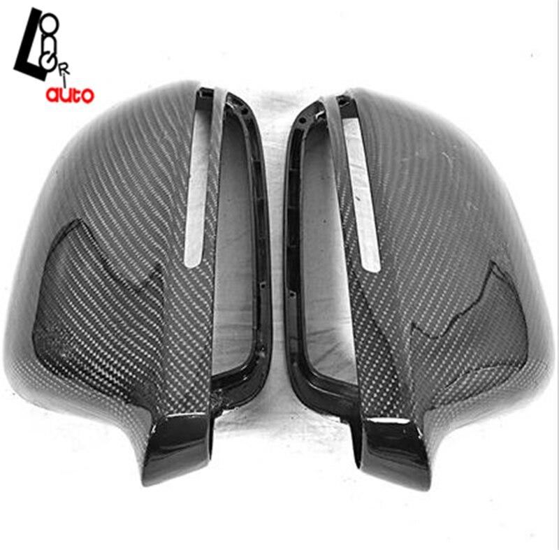 Тюнинг автомобилей Замена Стиль углерода Волокно зеркало заднего вида покрытия для Audi A4 A4L b8