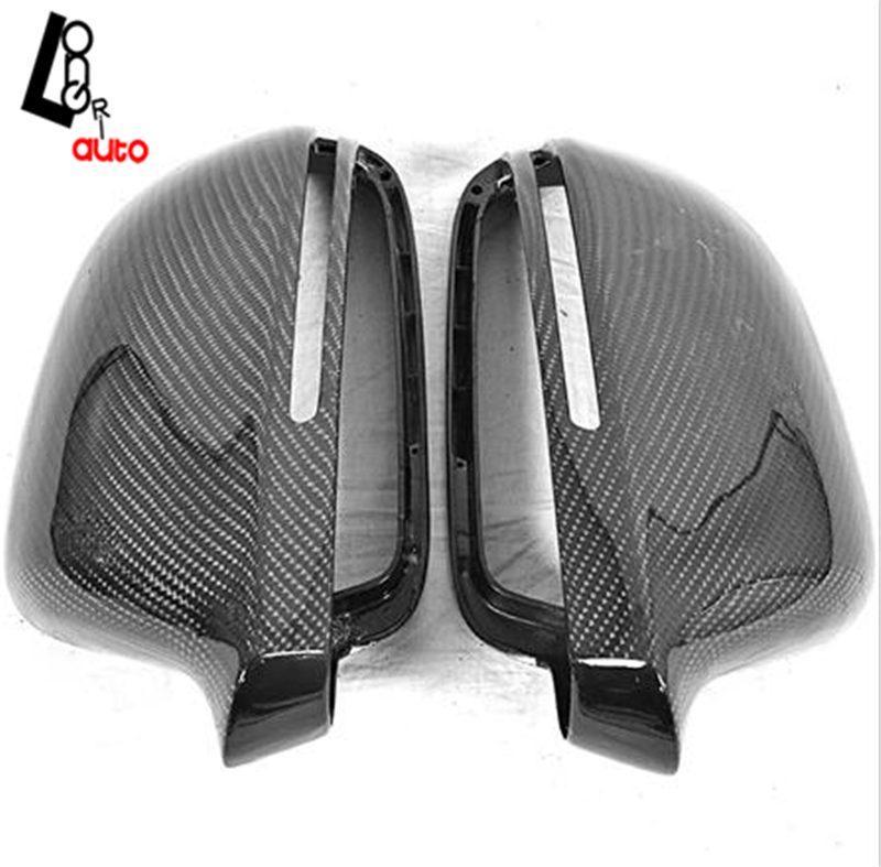 car styling Replacement Style Carbon Fiber Rear Mirror Cover For Audi A4 A4L B8 carbon fiber mirror cover for 07 09 audi a4 b8