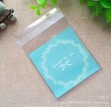 100 pçs/lote Skyblue Lace Biscoito Saco de Embalagem Sacos de Presente de Natal Saco de Doces de Casamento 7 cm * 7 cm