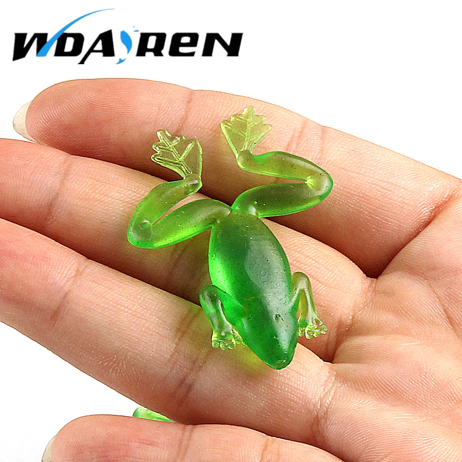 10 Pcs/lot Hot Sale Fishing Lures Soft Ray Frog Bait 3D Eyes Wobbler Multicolor Artificial Frog Lure Bait Fishing Tools FA-256 y0018 wholesale ray frog sets playing blackfish bait lures bait floating frog bait fishing