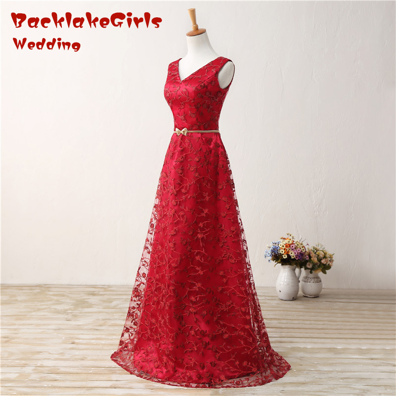 82e957a39bdce Don's Bridal Vintage Bright Red Evening Gown Sleeveless Chiffon ...