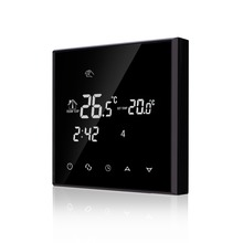 цена на 200-240VAC Colorful Letter Negative Screen 5+2 Weekly Programmable 16A Electric Underfloor Heating Room Thermostat without Wifi