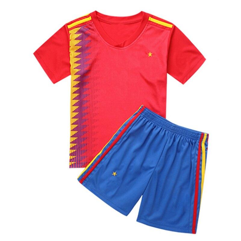 2 pieces baby boy clothes summer tops Sets short sleeve football t shirt+shorts children boys soccer sports tshirt for boy