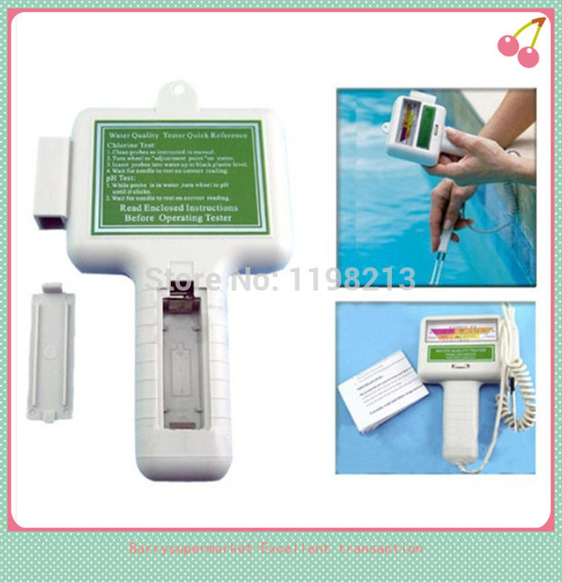 Portable PH Meter Water Quality Tester PH Tester CL2 Chlorine Tester PH  Level Meter For Swimming
