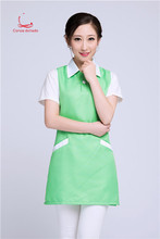 Korean version of fashion vest style work clothes shop beauty salon manicurist makeup supermarket