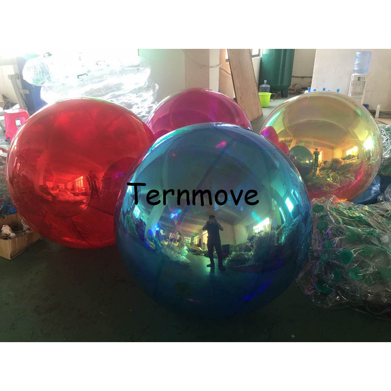 Inflatable holographic Bright Color Mirror Ball For Promotion fashion wedding Mirror Reflection Stage Festival Hanging BalloonInflatable holographic Bright Color Mirror Ball For Promotion fashion wedding Mirror Reflection Stage Festival Hanging Balloon
