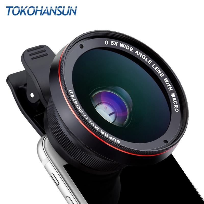 TOKOHANSUN HD Camera Lens Kit 0.63X Wide Angle 15X Macro