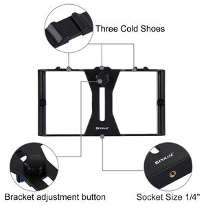 Image 4 - PULUZ Smartphone Video Rig + LED Studio Light + Video Microphone + Mini Tripod Mount Kits with Cold Shoe Tripod Head for iPhon