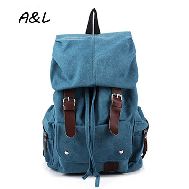 2e8a7585a8 2016 Women Vintage Casual Canvas Backpack School Bag Men Outdoor Sport  Backpack Large Capacity Travel Hiking Mountain Bag A0056