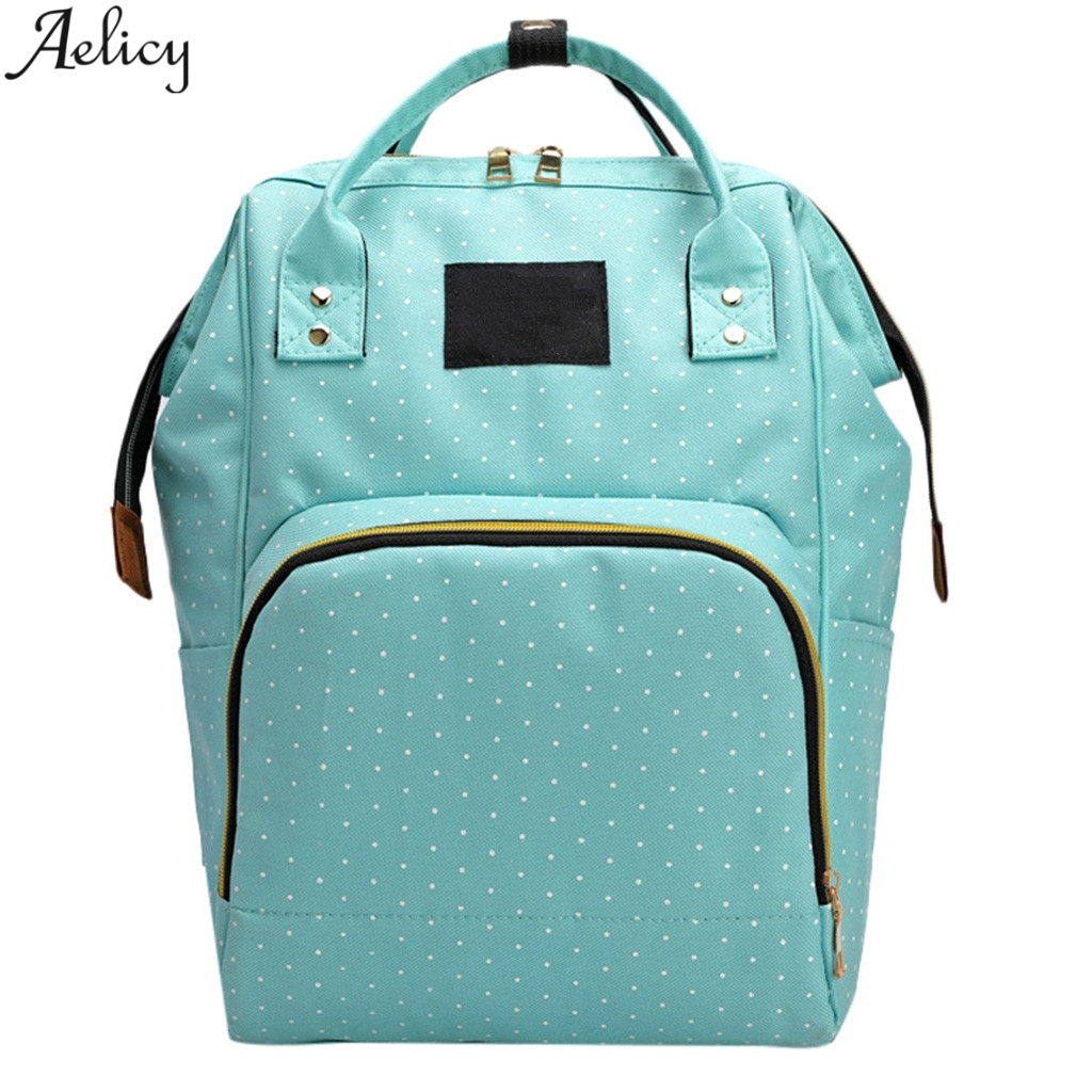 Aelicy Fashion Large Capacity Panelled Dot Oxford Backpack Casual Multifunctional Nursing Bagtraveling Shoulder Backpack MochilaAelicy Fashion Large Capacity Panelled Dot Oxford Backpack Casual Multifunctional Nursing Bagtraveling Shoulder Backpack Mochila