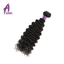 Alimice Hair Indian Hair Deep Wave Extensions 100 Human Hair Weave Bundles Non Remy Hair Weaves