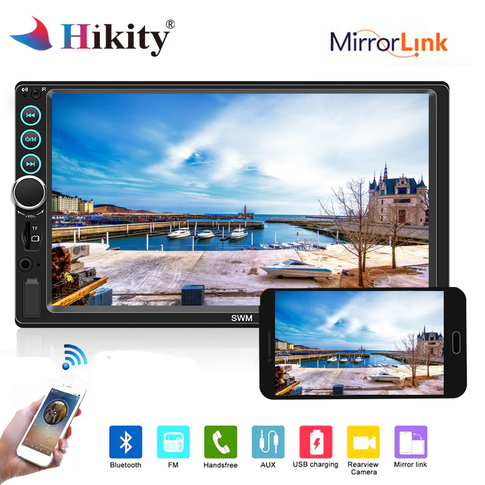 Hikity Universal Car audio 7 2 DIN Autoradio Stereo Touch Screen auto Radio MP5 Player Bluetooth TF USB FM camera Mirror Link 7 2 din touch screen car stereo mp5 player 4core android os bluetooth wifi gps navigator auto fm radio autoradio mirror link