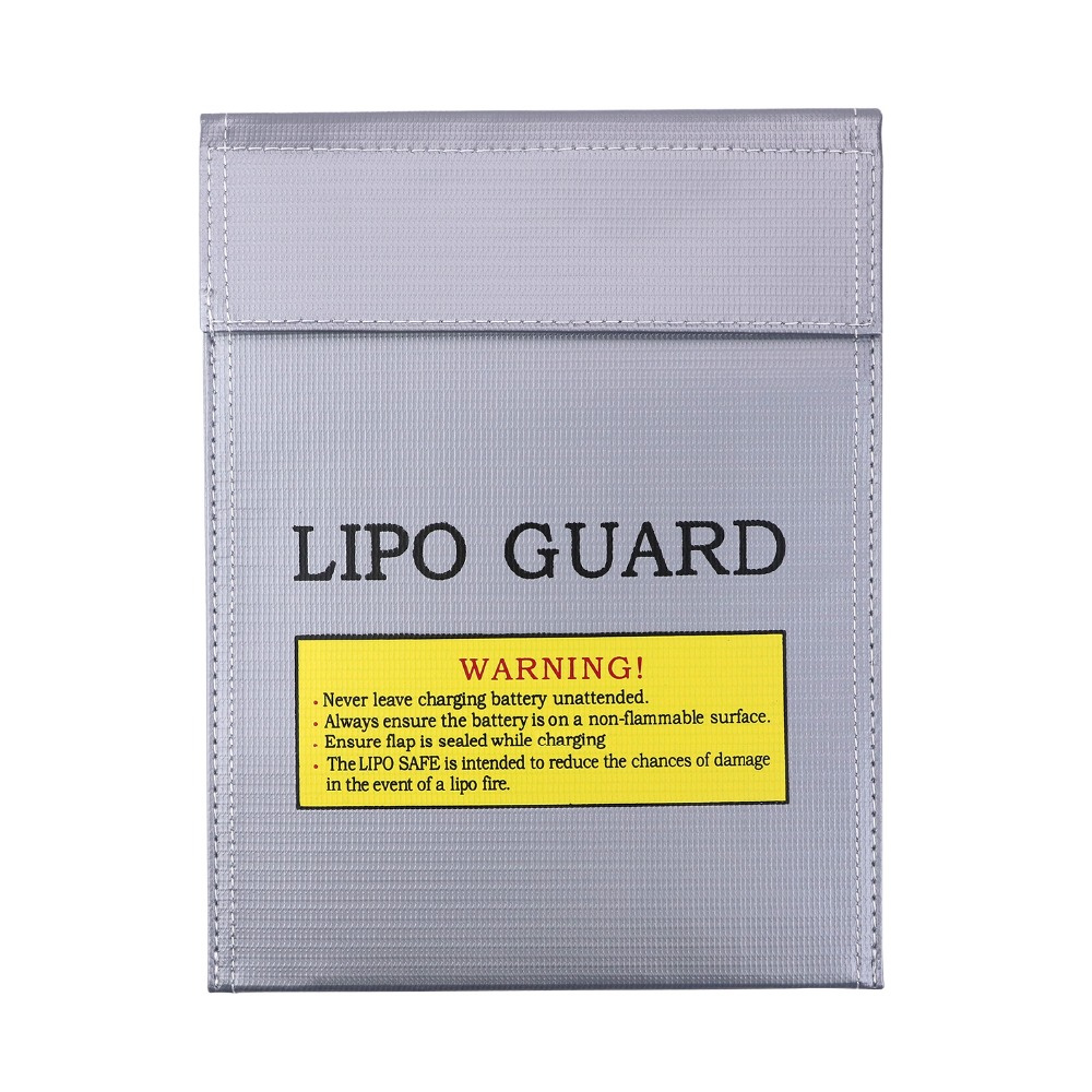 NASTIMA 2Packs Fireproof & Explosion proof Lipo Battery Safety Guard Bag for Charge & Storage, Silver , 23 18cm