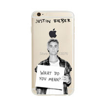 phone case Justin Bieber Fashion Clear Transparent soft silicone TPU cover for Apple iphone 6 6S 6plus 6Splus 7 7plus 5S SE