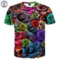 Mr.1991INC New Fashion Men/Women Summer Tops Tees Digital Print Colorful Roses Flowers 3d T-shirts