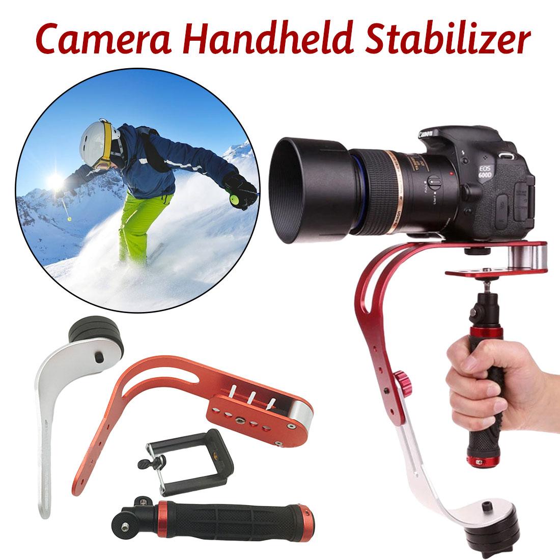 Stabilisateur de caméra numérique portatif universel en alliage d'aluminium rouge Mini vidéo Steadicam Mobile DSLR 5DII Motion DV stabilycam